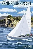 Kennebunkport、メイン州–Sloopヨットと湖 16 x 24 Giclee Print LANT-74345-16x24