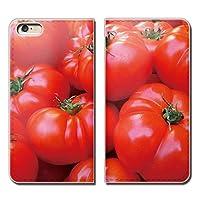 (ティアラ)Tiara AQUOS sense2 SHV43 スマホケース 手帳型 ベルトなし 野菜 サラダ トマト TOMATO とまと 手帳ケース カバー バンドなし マグネット式 バンドレス EB004040104403