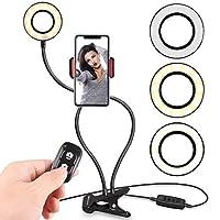 UBeesize フレキシブルリングライト 携帯電話ホルダー付き