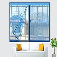 アンチモスキート 網戸,Velcro ウィンドウ画面,フルフレーム velcro 網戸 自動接着 パンチ無料 リムーバブル-ブルー 200x200cm(79x79inch)