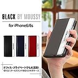 iPhone6/iPhone6S 対応 本革手帳型レザーケース「Box Leather(3色)」マウジー/ブランドケース/カバー (NAVY) moussy(マウジー) 株式会社エム・ディー・シー ip6-moussy-Box