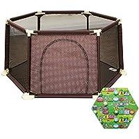 赤ちゃんの遊び場のマットレス幼児の安全の再生庭ドアを持つアンチコリジョンアンチロールオーバー保育園幼児フェンス (サイズ さいず : 180×66.5cm)