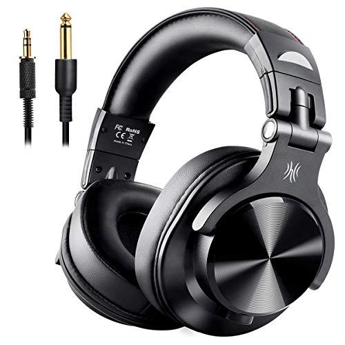 OneOdio DJヘッドホン モニターヘッドホン 低音強化...