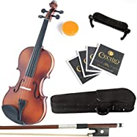 Mendini 1/8 MV300 Solid Wood Satin Antique Violin with Hard Case Shoulder Rest Bow Rosin and Extra Strings [並行輸入品]