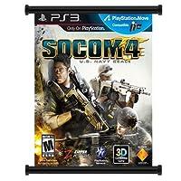 SOCOM 4ゲームファブリック壁スクロールポスター( 16x 19)インチ