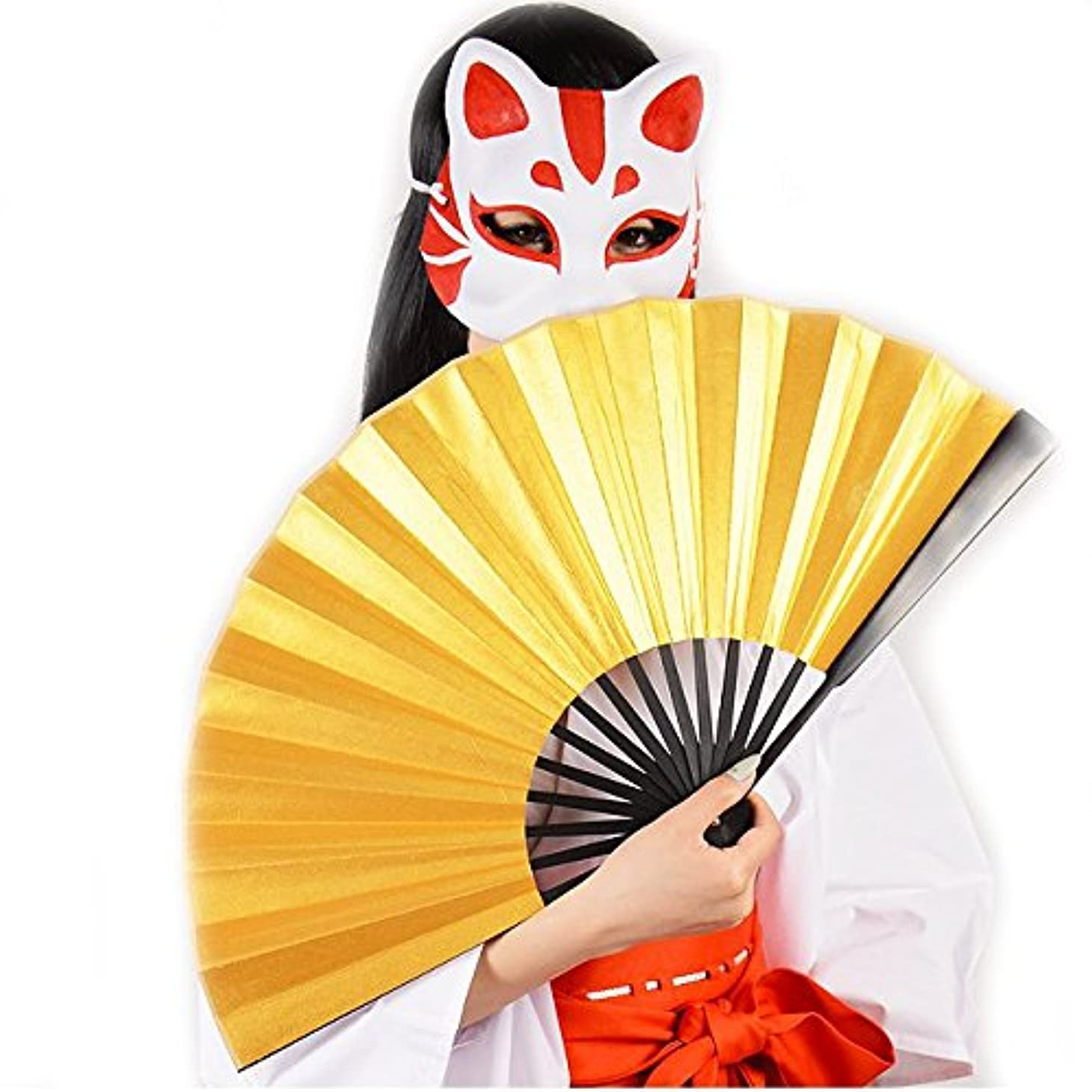 中に避けるラベ和風扇子 BIGサイズ 雅色 コスプレ 小物 宴会 一発芸 (金)