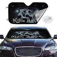 サンシェード サンバイザー 車用 フロントガラス 遮光 UVカット ATEEZ カーフロントカバー 四季用 吸盤取付 汎用 収納便利