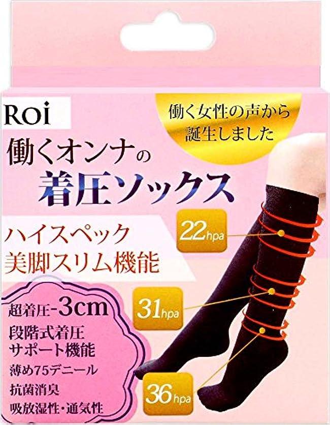 アスペクトウガンダコウモリ(ロイ)Roi 『働く女の 着圧ソックス 』強着圧-3cm ソックス 段階式着圧サポート機能 靴下 (L~LL[23.5~25cm])