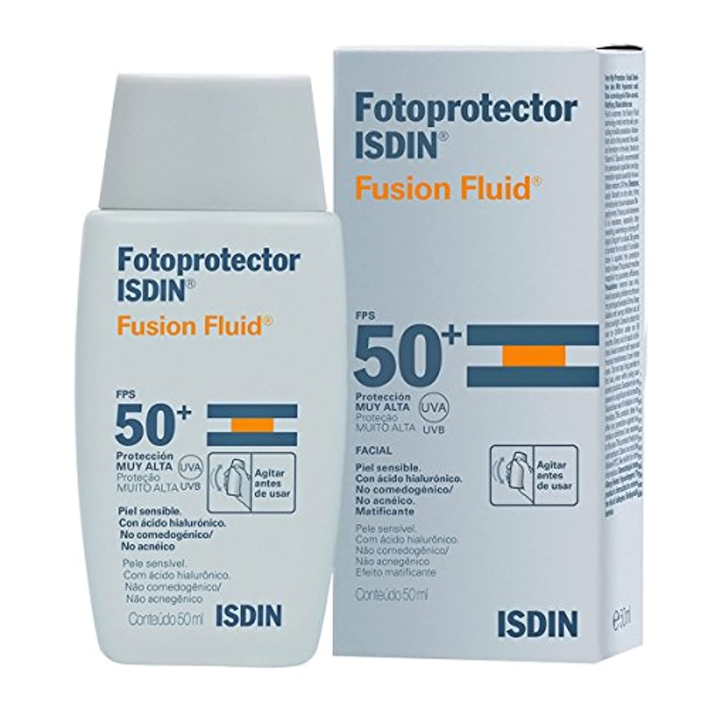 緩やかな建てる有効化Isdin Fotoprotector Fusion Fluid Spf50+ 50ml [並行輸入品]