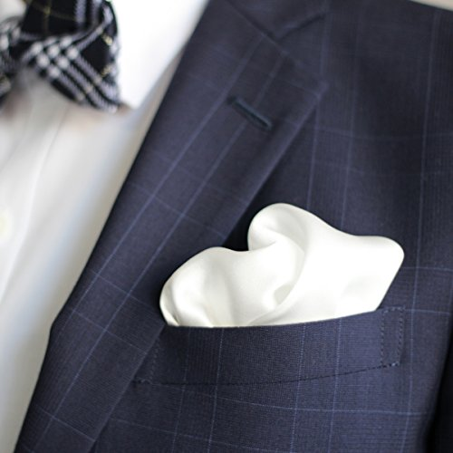 【ダブリューアンドエム】 W&M ポケットチーフ 無地 絹 シルク 100% 35×35cm ヨーロッパ伝統色 20色展開 ( ホワイト 白 )