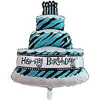 ヘリウムバルーン 箔 大 ケーキ 誕生日 パーティー 装飾 子供 赤ちゃん 100 * 69cm ブルー