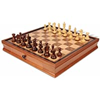 Fierce Knight Staunton Chess Set in Rosewood & Boxwood with Walnut Chess Case - 3.5 King by The Chess Store [並行輸入品]