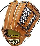 ZETT(ゼット) 野球 硬式 サード グラブ(グローブ) プロステイタス (右投げ用) BPROG25 ウッディブラウン/イエロー