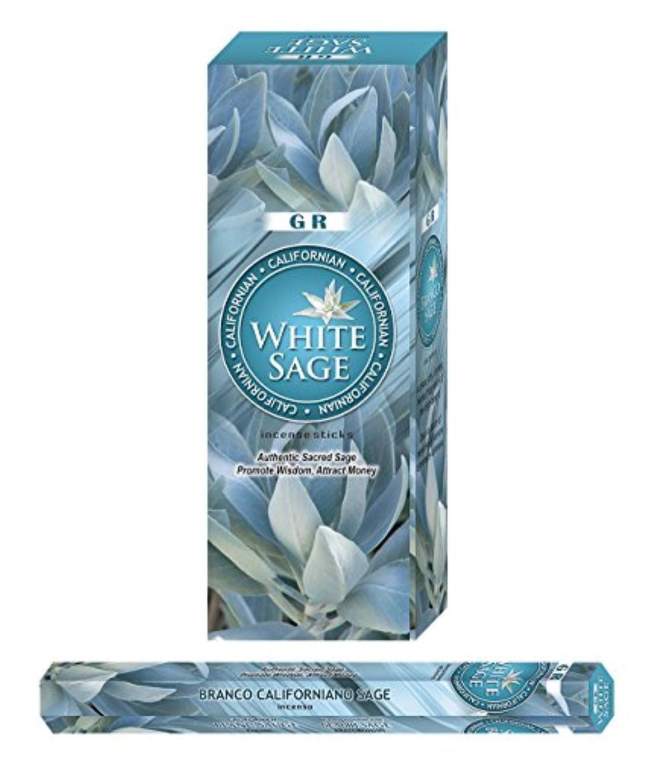 アジア人リーン丘Californian White Sage Incense-120 Sticks