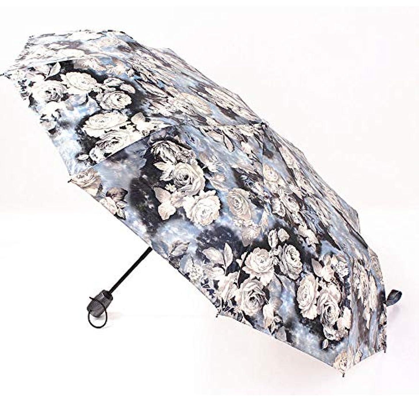 羊の服を着た狼悲惨な鉱夫晴れと雨の日のための牡丹の花の傘自動日よけ日焼け止め傘