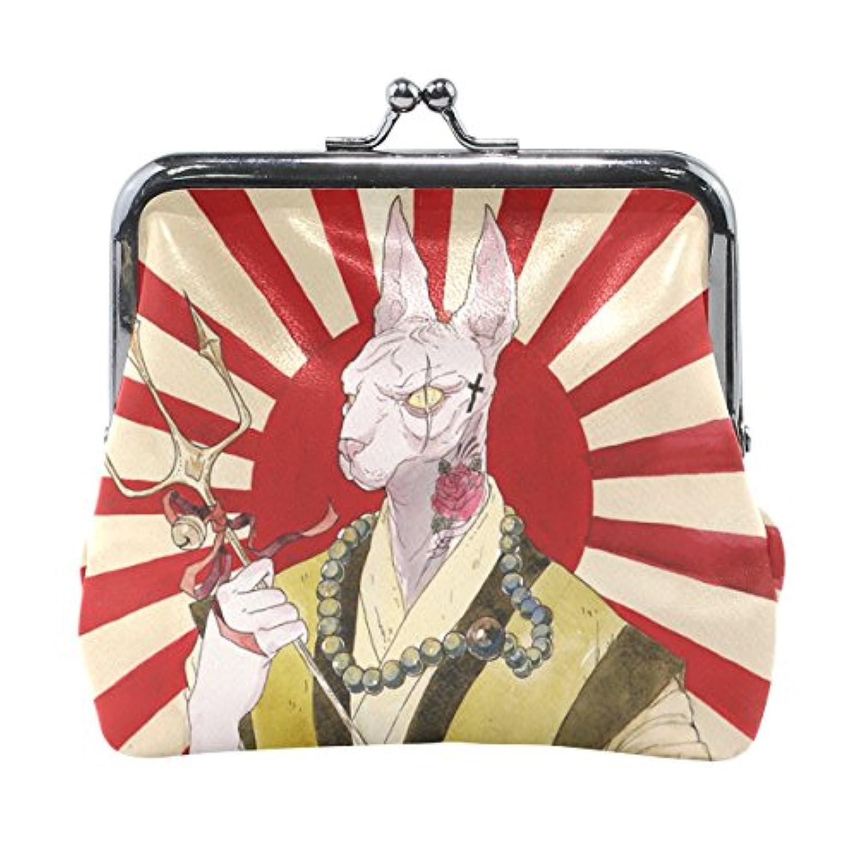 がま口 財布 口金 小銭入れ ポーチ 浮世 絵 Jiemeil バッグ かわいい 高級レザー 好評 買い得 レディース プレゼント ほど良いサイズ