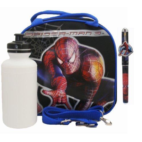 おもちゃ Spiderman スパイダーマン Lunch Bag with a Water Bottle - Black [並行輸入品]