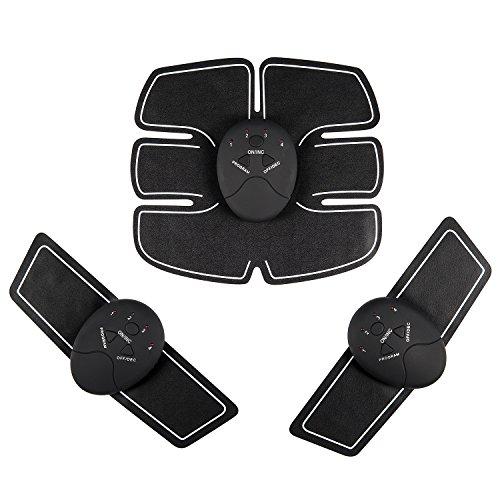 KGB(ケージビー) 腹筋ベルト 多機能 EMS 腹筋 腕筋 腹筋トレーニング ジェルシート 筋トレフィットネスマシーン 痩身 ウエストダイエット 男女兼用 乾電池式