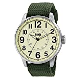 J-AXIS ミリタリーナイロンベルト腕時計 サンフレイムの人気ウォッチ ユニセックス グリーン AG1265-GR