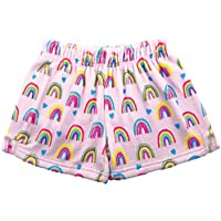 iscream Big Girls Silky Soft Plush Fleece Shorts - Pretty in Print Collection