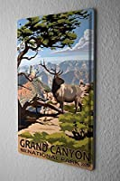 Shimaier 壁の装飾 メタルサイン ウォールアート - Adventurer Grand Canyon National Park 縦40×横30cm ブリキ看板 店舗装飾 壁面ディスプレー おしゃれ 雑貨 通販 アメリカン ガレージ