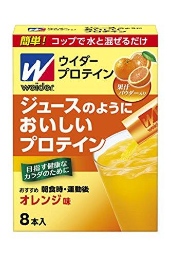 ウイダー ジュースのようにおいしいプロテイン オレンジ味 8本入