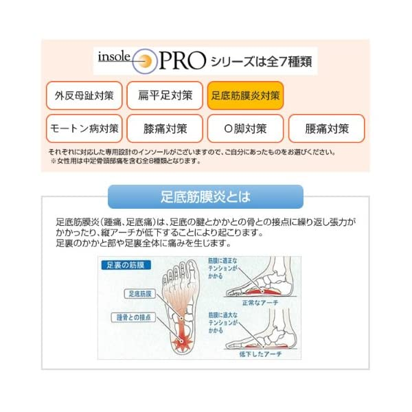 インソールプロ 足底筋膜炎対策 レディスの紹介画像11