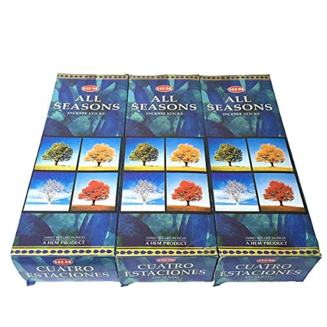 伝説アート意識的オールシーズン香スティック 3BOX(18箱) /HEM ALL SEASONS/インセンス/インド香 お香 [並行輸入品]