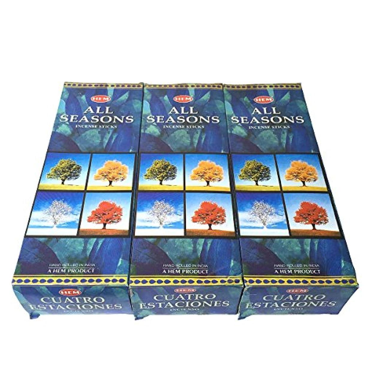 文房具遅い庭園オールシーズン香スティック 3BOX(18箱) /HEM ALL SEASONS/インセンス/インド香 お香 [並行輸入品]
