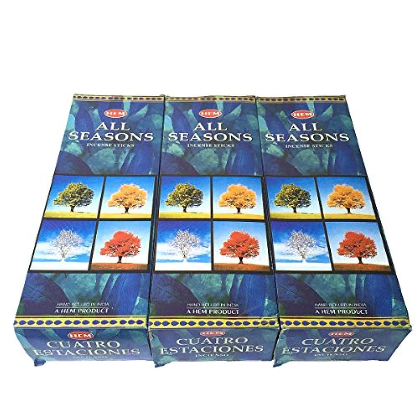 セイはさておき薄いくオールシーズン香スティック 3BOX(18箱) /HEM ALL SEASONS/インセンス/インド香 お香 [並行輸入品]