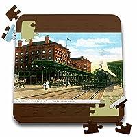 BLNヴィンテージUS都市とStatesはがきデザイン–BとO駅and Queen CityホテルCumberlandメリーランド州–10x 10インチパズル( P。_ 170079_ 2)