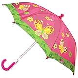 ステファンジョセフ 女の子用ピンクバタフライカラフルアンブレラ,花柄傘,雨具,梅雨対策グッズ [並行輸入品]