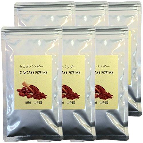 カカオパウダー 100% 粉末 70g×6袋セット ペルー産 無農薬栽培