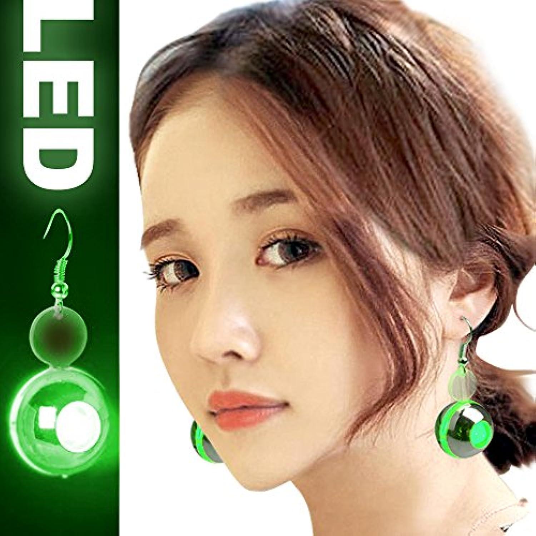 LED ピアス 光るイヤリング 2セット