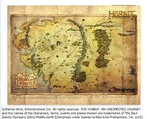 「ホビット 思いがけない冒険」 中つ国 地図マイクロファイバータオルTHE HOBBIT: THE UNEXPECTED JOURNEY: The Map of Middle Earth