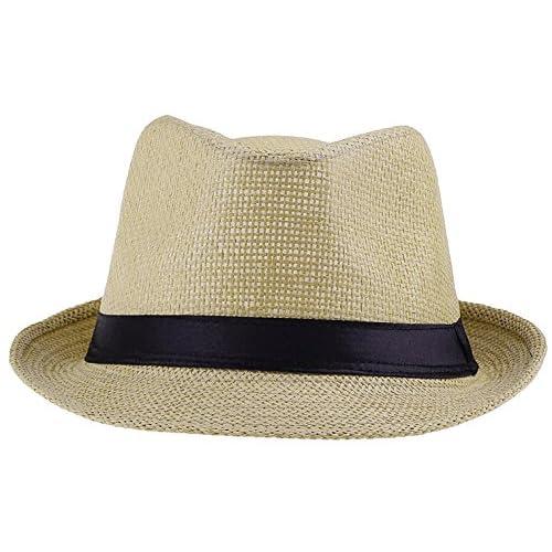 EOZY イングランド風 紳士用 中折れハット メンズ帽子 紳士ハット 無地タイプ 紫外線防止 ユニ 56-58cm 多色展開 カラー選べる (4.イエロー)