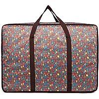 大型ストレージバッグカラフルな雨滴パターンポータブル高品質の旅行の主催者防水性防湿オックスフォード布の羽毛布団の衣類移動仕上げ荷物の収納袋 (サイズ さいず : 50 * 20 * 40cm)