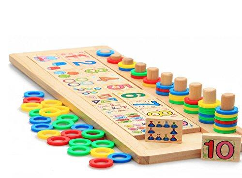 知育 玩具 モンテッソーリ 幼児 子供 教育 教材 木のおもちゃ シリンダー ブロック パズル 木製...