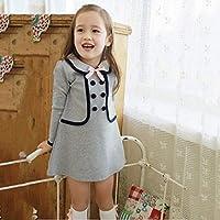 Neky 子供 ワンピース フォーマル 女の子 スーツ 入学式 卒業式 結婚式 スカート ダブルボタン 子ども服 100cm