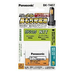 パナソニック 充電式ニッケル水素電池 コードレス電話機用 BK-T407