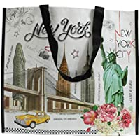 New York Statue of Liberty Reusable Large Shopping Shoulder Tote Bag