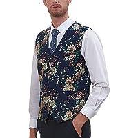 Hanayome Men's Jacket Pattern V-Nek Formal 4 Buttons Dress Vests Waistcoat -Vs