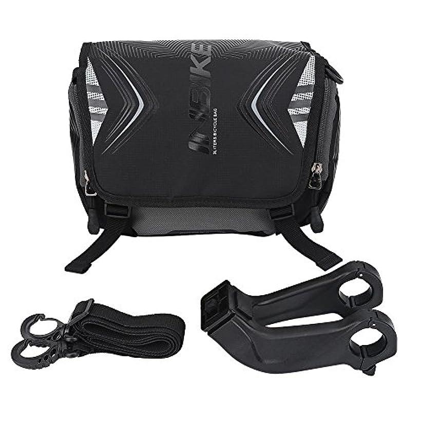 ボイラー遊び場憤るEboxer フロントバッグ 自転車用 多機能 大容量 小物入れ ブラック 防水 肩付きリュックサック 耐久性 2つの色を選ぶことができる