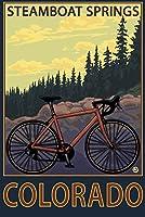 Steamboat Springs、Co–Mountain Bike Trail 12 x 18 Art Print LANT-30815-12x18