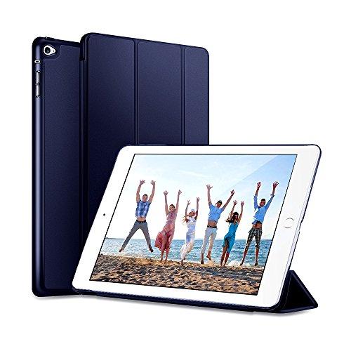 KYOKA iPad Mini4 ケース 薄型 軽量 オートスリープ機能 PUレザー 三つ折タイプ スタンド機能 スマートカバー (iPad mini4, ネイビー)
