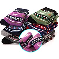 6 Pairs Children's Wool Socks For Boy Girl Kid Thick Warm Thermal Cotton Winter Crew Socks