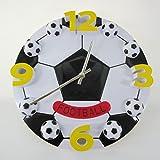 (スリーボックス)ThreeBox サッカーボール型 立体 掛け時計 クロック 直径 30cm