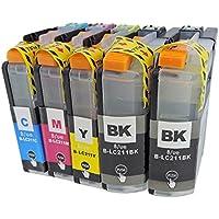 LC211-4PK 【4色 + BK 1本 合計5本】 brother (ブラザー) B/ue製 互換 211 LC211 インク カートリッジ 最新機種対応新型ICチップ付き 【購入から1年保証サービス】