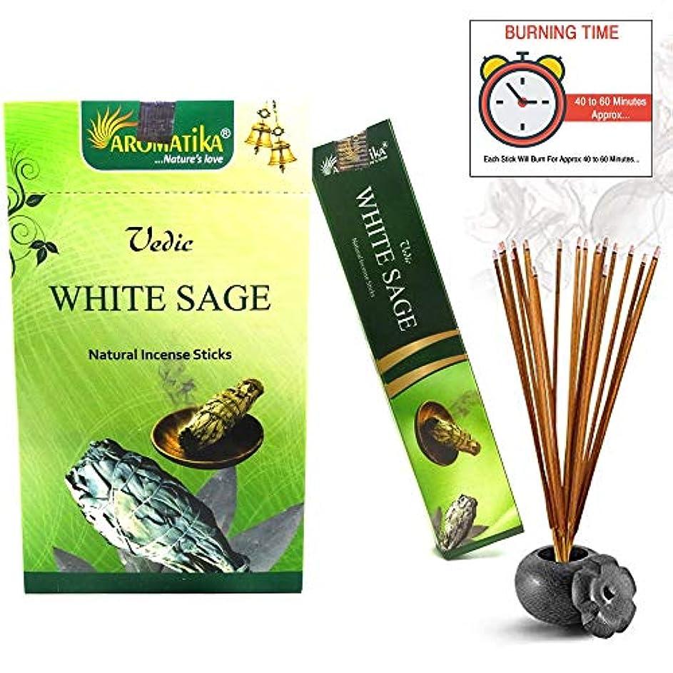 加速度露骨なクラウンaromatikaホワイトセージ15 gms Masala Incense Sticks Pack of 12