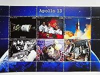 トーゴ切手『アポロ13号』6枚シート